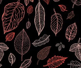 Leaves seamless pattern vector design 01