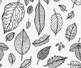 Leaves seamless pattern vector design 02