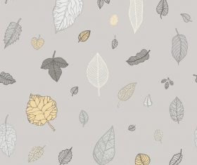 Leaves seamless pattern vector design 03