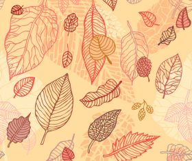 Leaves seamless pattern vector design 04