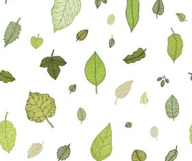 Leaves seamless pattern vector design 05