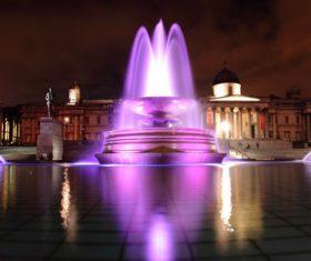 Lighting decorative fountain Stock Photo