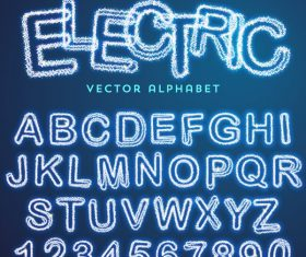 Lightning number with alphabet vector