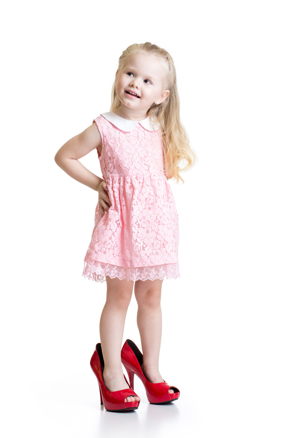 704c84cd923 Little girl wearing high heels Stock Photo 02 free download