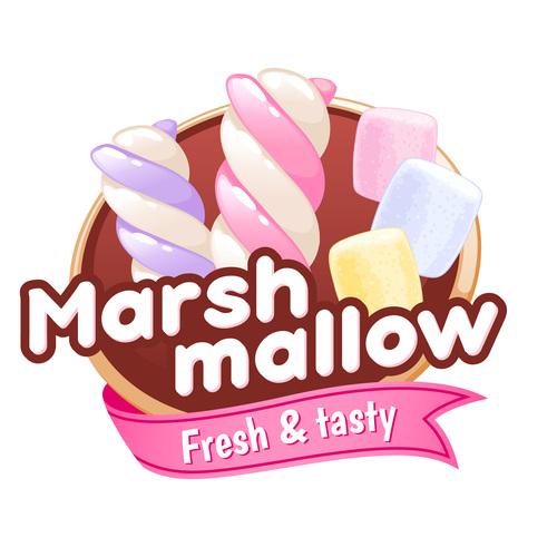 Marsh mallow labels vectors