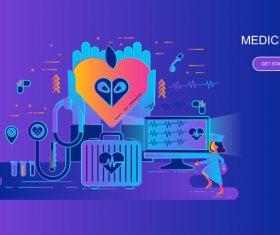 Medicine flat design concept vector