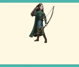 Medieval Archer vector