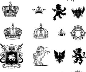 Medieval design vector