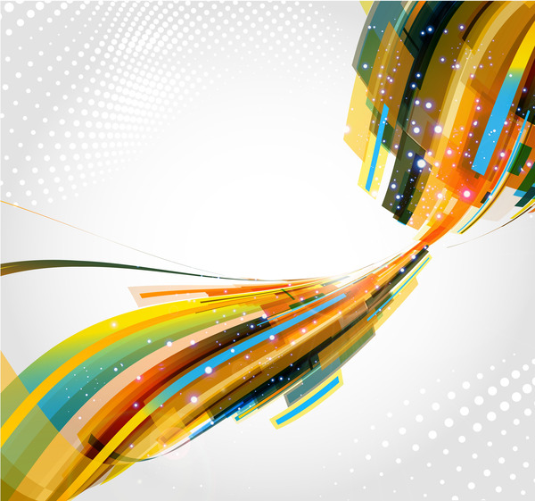 Messy abstract background design vector 03