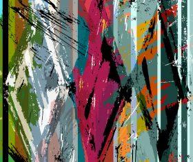 Messy graffiti background decor vector 02