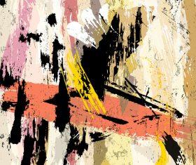 Messy graffiti background decor vector 03