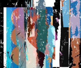 Messy graffiti background decor vector 04