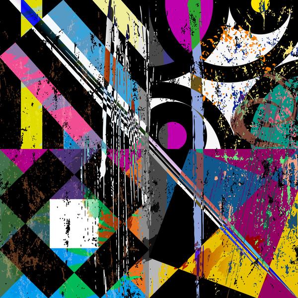 Messy graffiti background decor vector 05