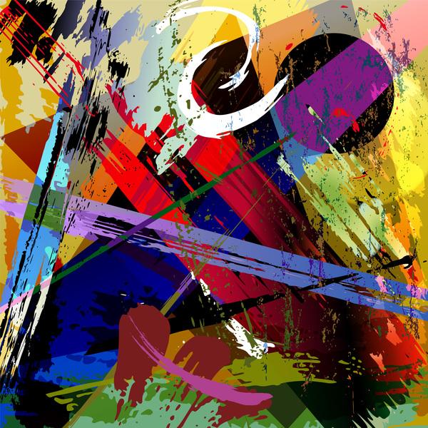 Messy graffiti background decor vector 08