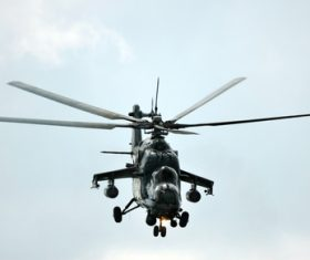 Mi-24 Armed Helicopter Stock Photo 01