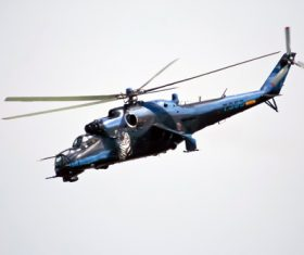 Mi-24 Armed Helicopter Stock Photo 02