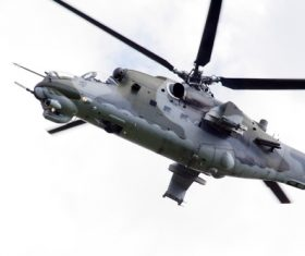 Mi-24 Armed Helicopter Stock Photo 03