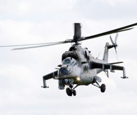 Mi-24 Armed Helicopter Stock Photo 04