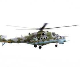 Mi-24 Armed Helicopter Stock Photo 05