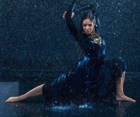 Modern dance performance artist Stock Photo 01