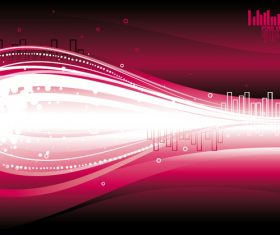Music wavy abstract background vector