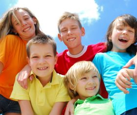 Naive happy children Stock Photo 01