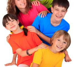 Naive happy children Stock Photo 02