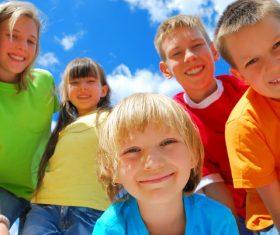 Naive happy children Stock Photo 03