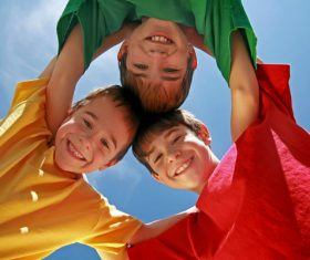 Naive happy children Stock Photo 04