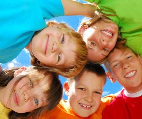 Naive happy children Stock Photo 05