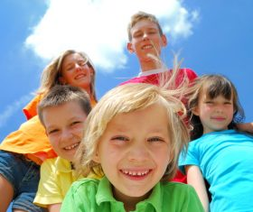 Naive happy children Stock Photo 06