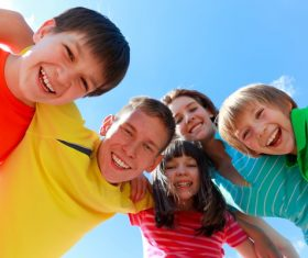 Naive happy children Stock Photo 07
