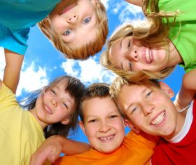 Naive happy children Stock Photo 08