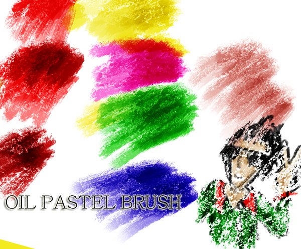 Oil Pastel Photoshop Brushes