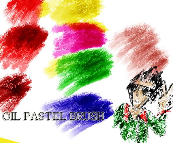 Oil Pastel Photoshop Brushes