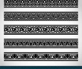 Old ornament borders vectors 01