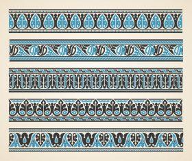 Old ornament borders vectors 02
