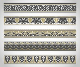 Old ornament borders vectors 04