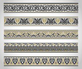 Old ornament borders vectors 04