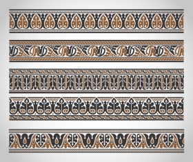Old ornament borders vectors 05