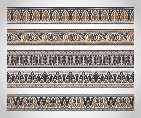 Old ornament borders vectors 05