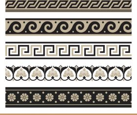 Old ornament borders vectors 06