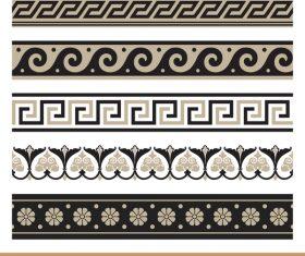 Old ornament borders vectors 06