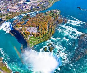One of the worlds natural wonders Niagara Falls Stock Photo 01