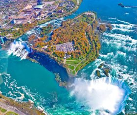 One of the worlds natural wonders Niagara Falls Stock Photo 04