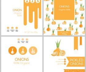 Onions package box template vector