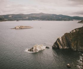 Peaceful calm rocky seascape Stock Photo