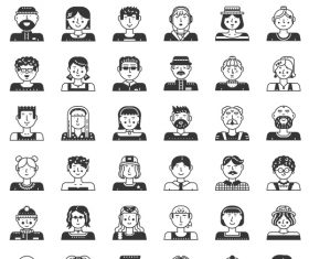 Perfect Line icons – People Avatars