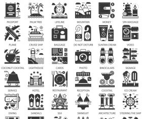 Perfect Line icons – Travel Cruise