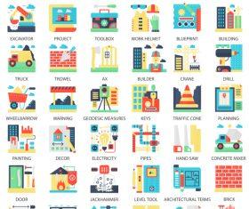 Perfect flat icons – Building Construction